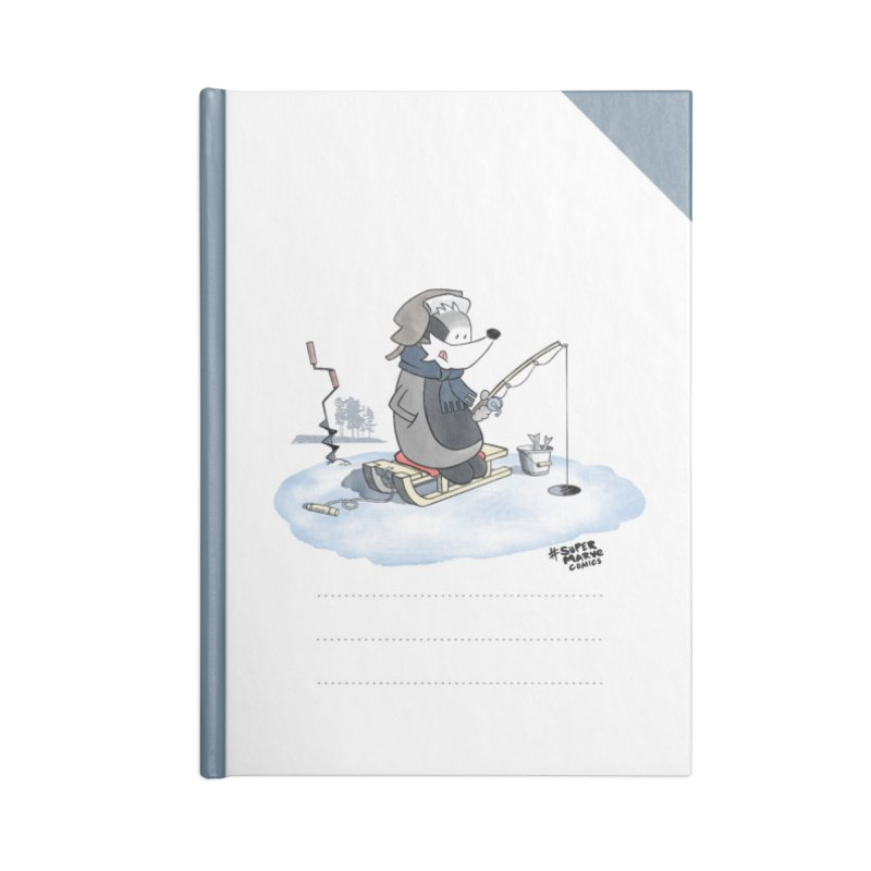 Ice Fishing Badger Accessories Notebook by Super Marve Shop