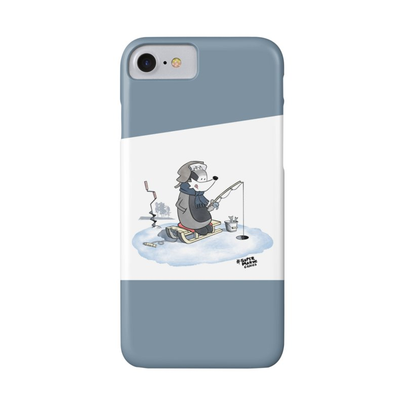 Ice Fishing Badger Accessories Phone Case by Super Marve Shop