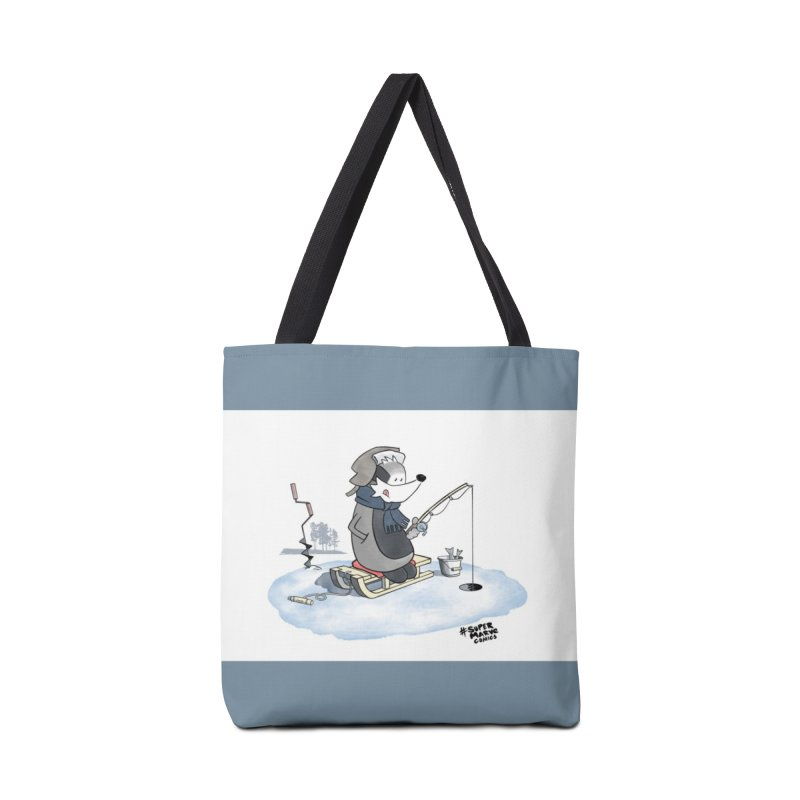 Ice Fishing Badger Accessories Bag by Super Marve Shop