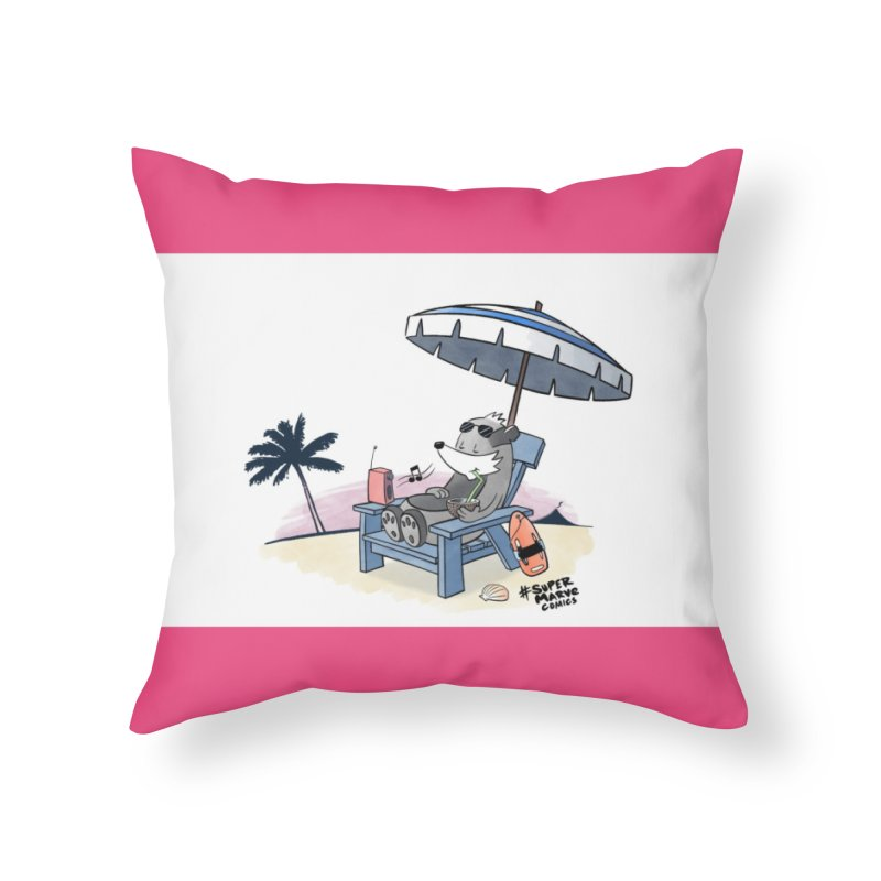 Aloha! Home Throw Pillow by Super Marve Shop