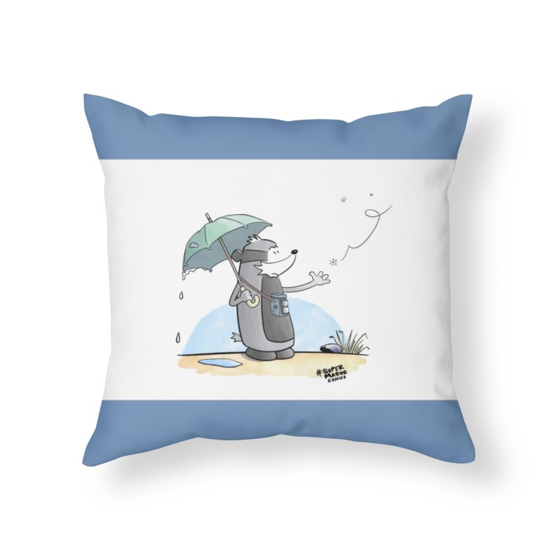 Snowflake Home Throw Pillow by Super Marve Shop