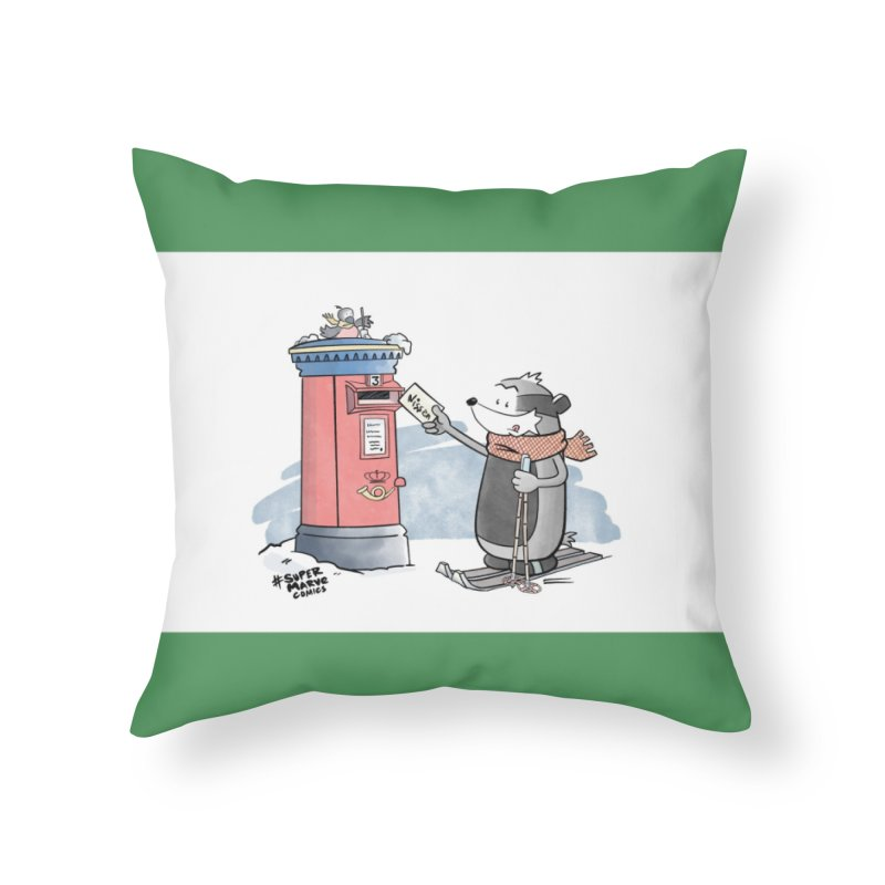 Royal Mail Home Throw Pillow by Super Marve Shop