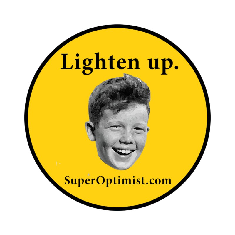 Lighten Up! Men's T-Shirt by SuperOpt Shop