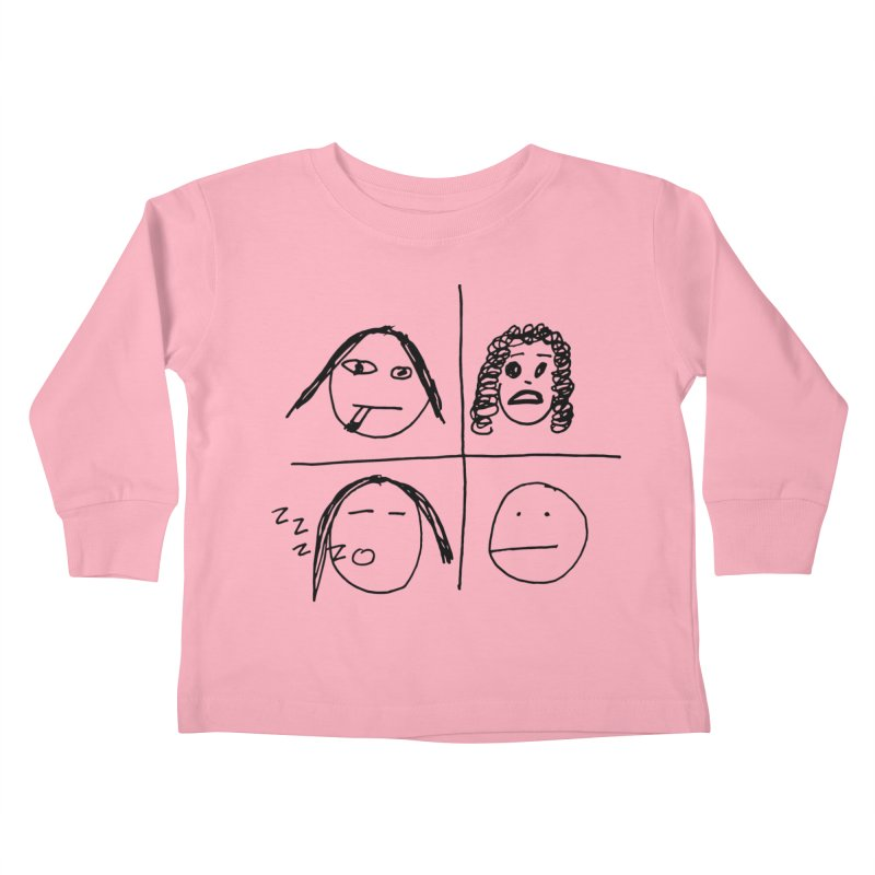 Quarantine Quartet Kids Toddler Longsleeve T-Shirt by SuperOpt Shop