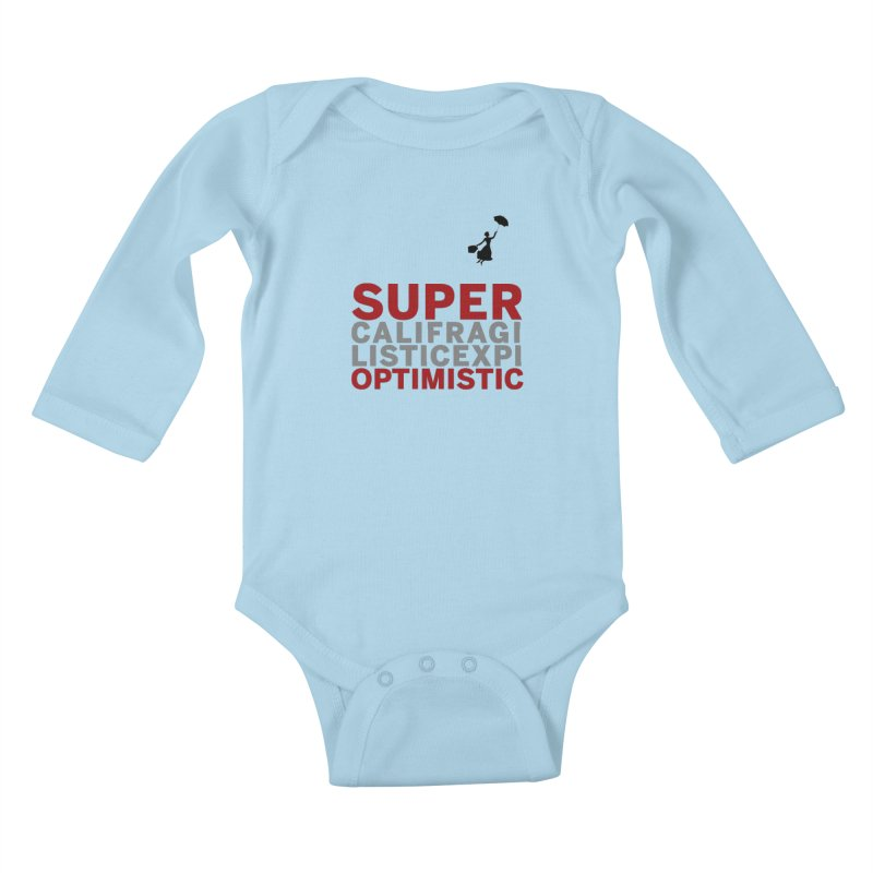 Look, Up in the Sky Kids Baby Longsleeve Bodysuit by SuperOpt Shop