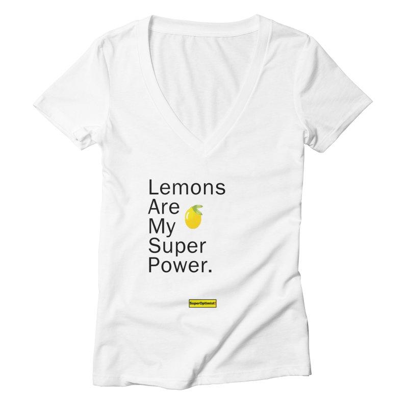 Lemon Power Women's V-Neck by SuperOpt Shop