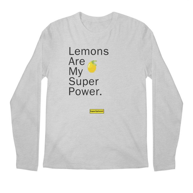 Lemon Power Men's Longsleeve T-Shirt by SuperOpt Shop