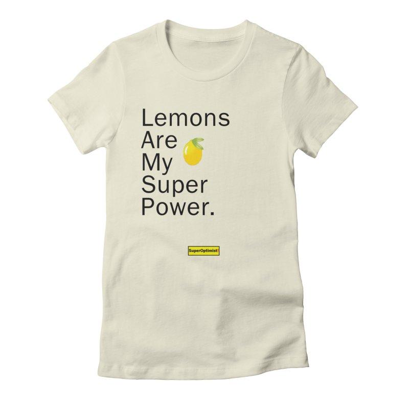 Lemon Power Women's T-Shirt by SuperOpt Shop