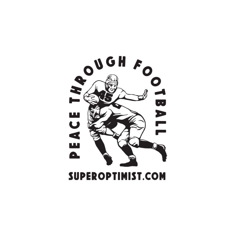 Peace Through Football Kids T-Shirt by SuperOpt Shop