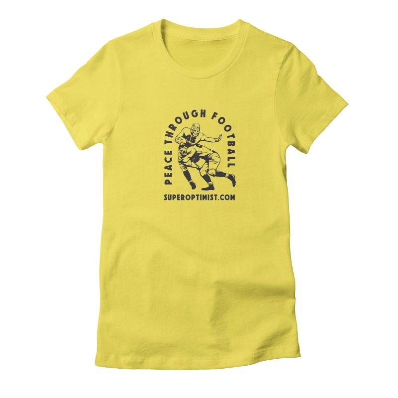 Peace Through Football Women's T-Shirt by SuperOpt Shop
