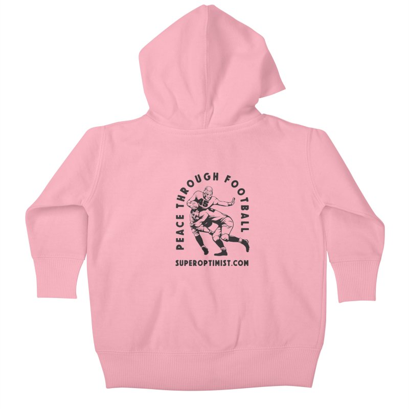 Peace Through Football Kids Baby Zip-Up Hoody by SuperOpt Shop