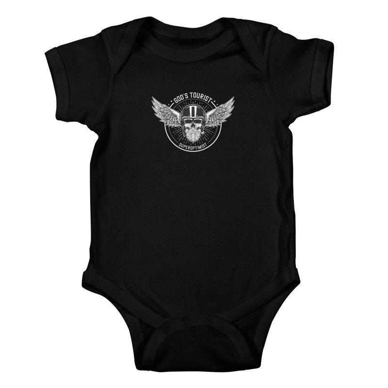 God's Tourist Kids Baby Bodysuit by SuperOpt Shop