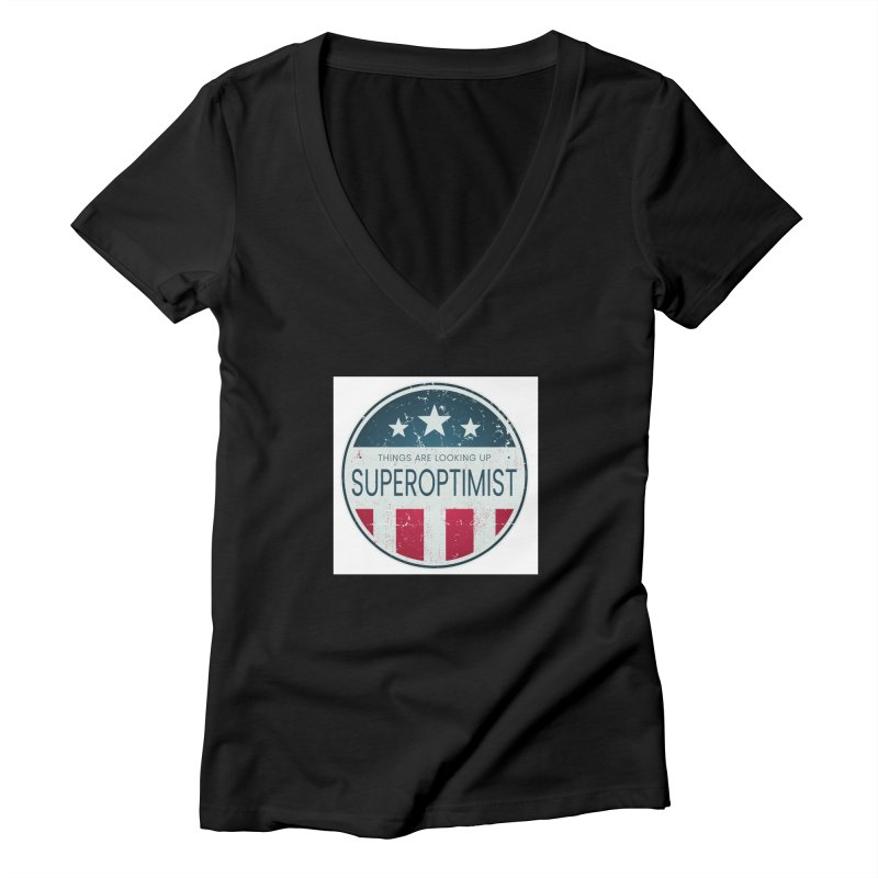 America the Positive Women's V-Neck by SuperOpt Shop