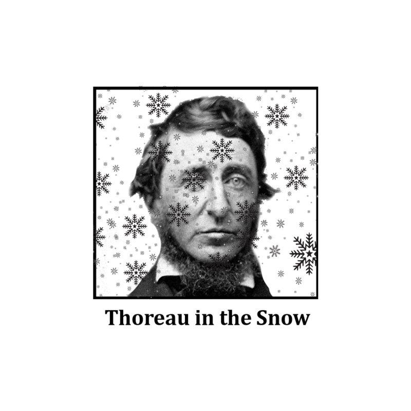 Thoreau in the Snow Men's T-Shirt by SuperOpt Shop
