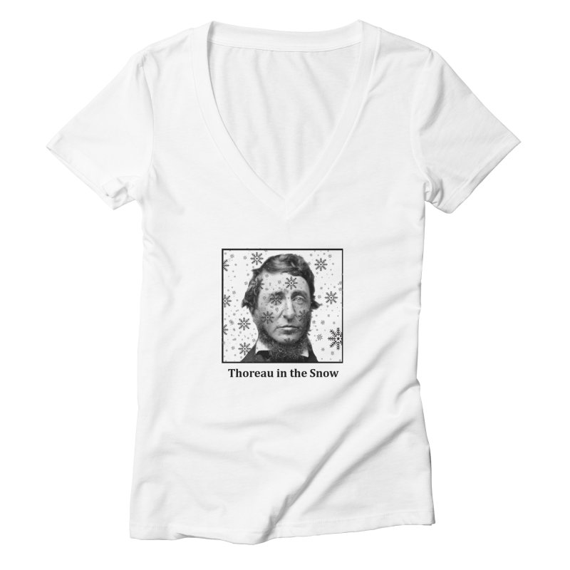 Thoreau in the Snow Women's V-Neck by SuperOpt Shop