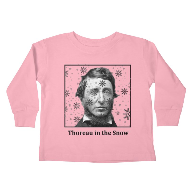 Thoreau in the Snow Kids Toddler Longsleeve T-Shirt by SuperOpt Shop