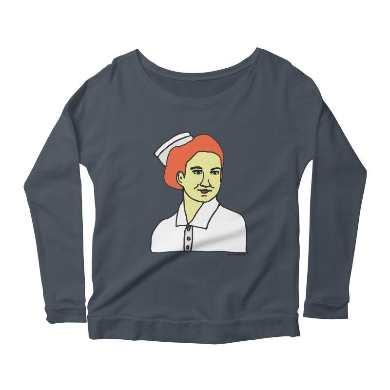 Nurse Nightsby Women's Scoop Neck Longsleeve T-Shirt by SuperOpt Shop