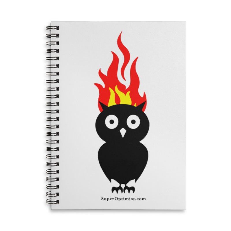 Brainstorm Accessories Lined Spiral Notebook by SuperOpt Shop