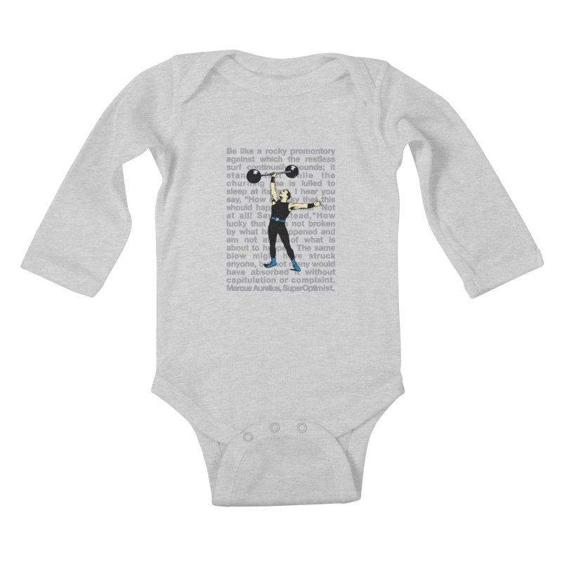 Rocky Kids Baby Longsleeve Bodysuit by SuperOpt Shop