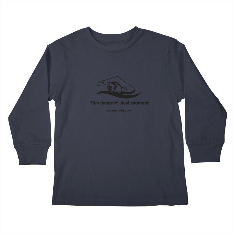 Deep Water Kids Longsleeve T-Shirt by SuperOpt Shop