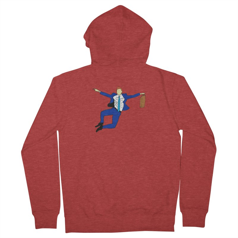 Happy Monday Women's French Terry Zip-Up Hoody by SuperOpt Shop