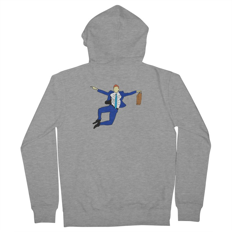 Happy Monday Men's French Terry Zip-Up Hoody by SuperOpt Shop