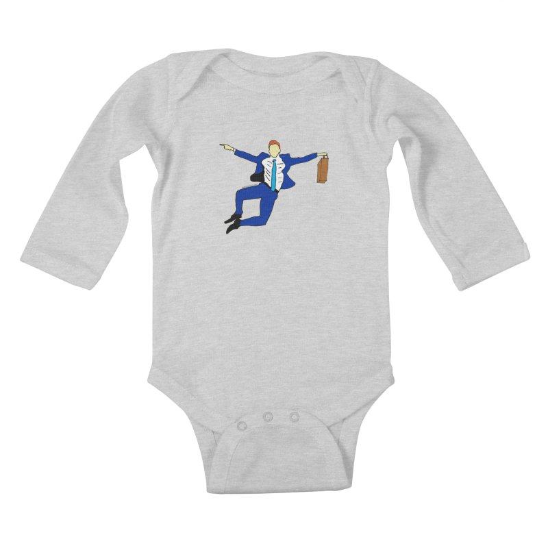Happy Monday Kids Baby Longsleeve Bodysuit by SuperOpt Shop