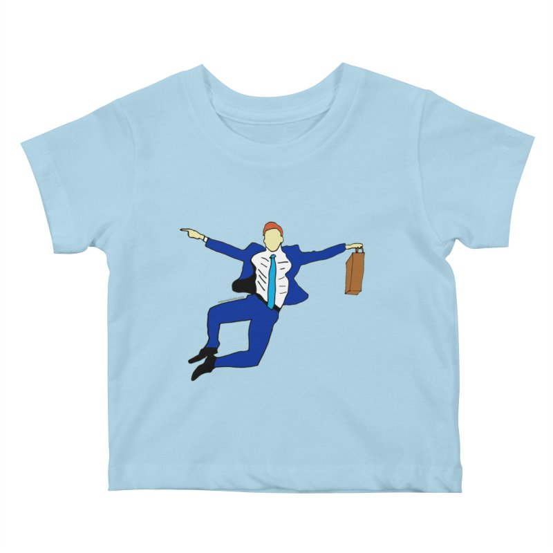 Happy Monday Kids Baby T-Shirt by SuperOpt Shop