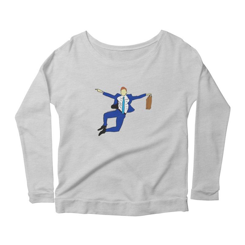 Happy Monday Women's Scoop Neck Longsleeve T-Shirt by SuperOpt Shop