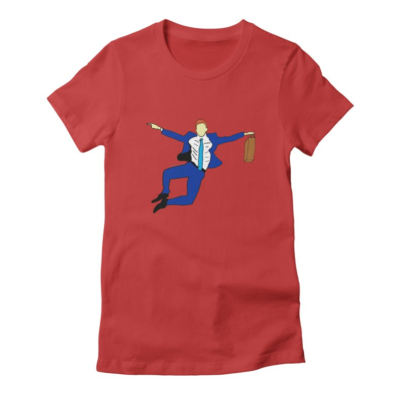 Happy Monday Women's Fitted T-Shirt by SuperOpt Shop