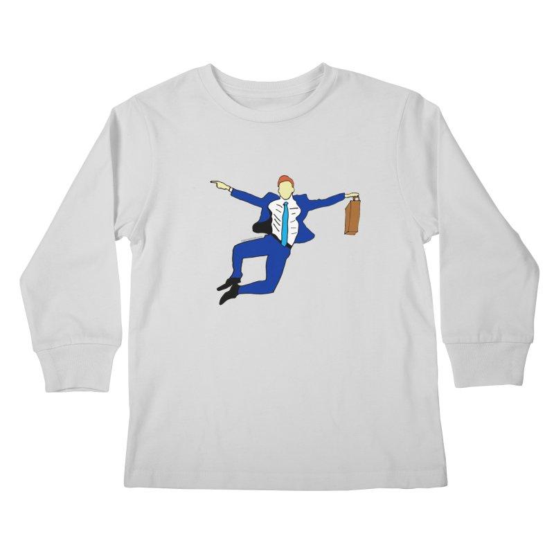Happy Monday Kids Longsleeve T-Shirt by SuperOpt Shop