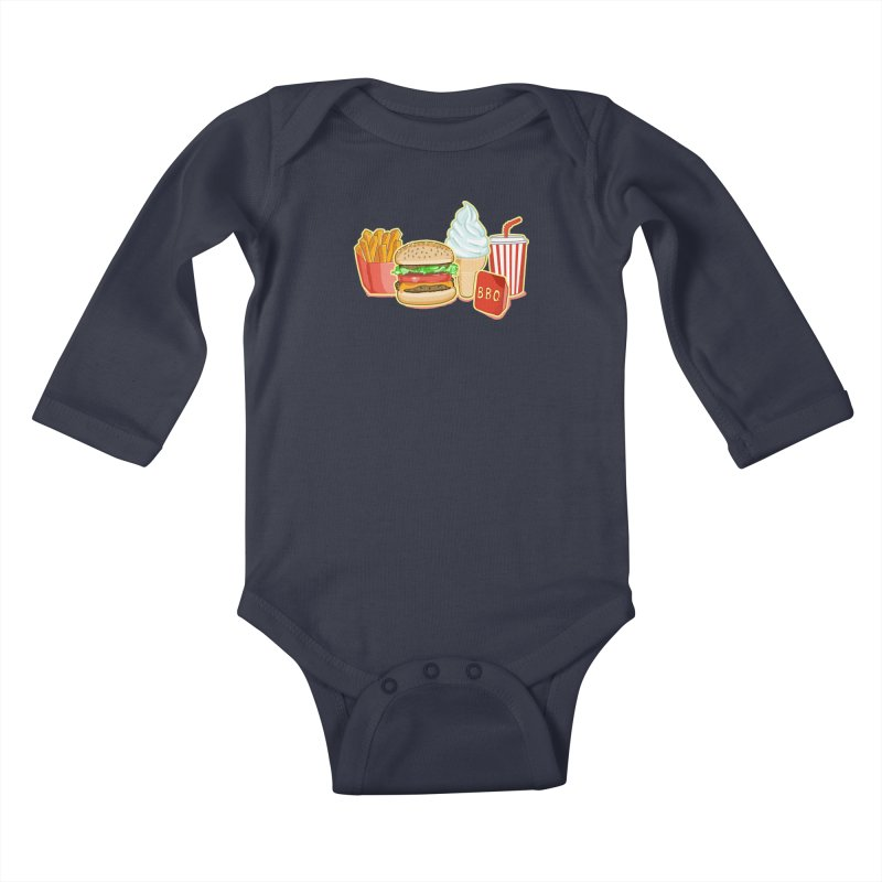 My Kind of Food Kids Baby Longsleeve Bodysuit by superskinbaby's Artist Shop