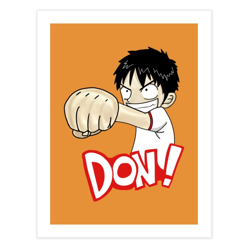 Luffy Don! (small) Home Fine Art Print by superskinbaby's Artist Shop
