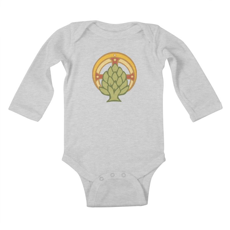 Holy Artichoke Kids Baby Longsleeve Bodysuit by Supersticery Shop