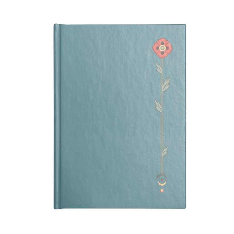 Celestial Poppy Accessories Lined Journal Notebook by Supersticery Shop
