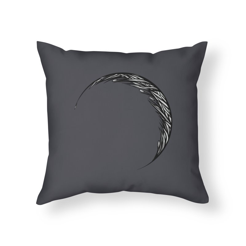 the Hollow Home Throw Pillow by Supersticery Shop