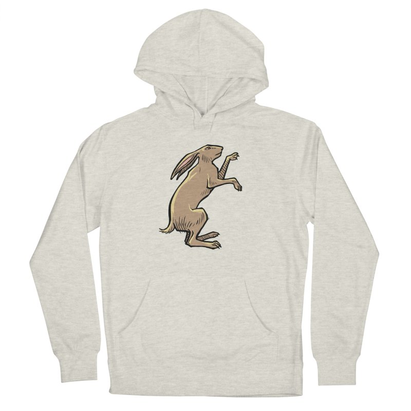 the Hare Men's French Terry Pullover Hoody by Supersticery Shop