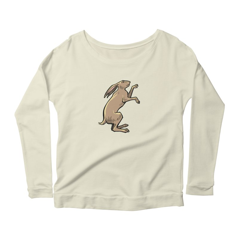 the Hare Women's Longsleeve Scoopneck  by Supersticery Shop