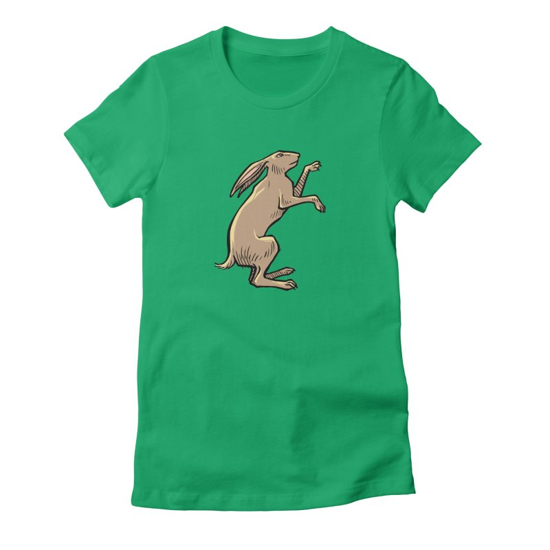 the Hare Women's Fitted T-Shirt by Supersticery Shop