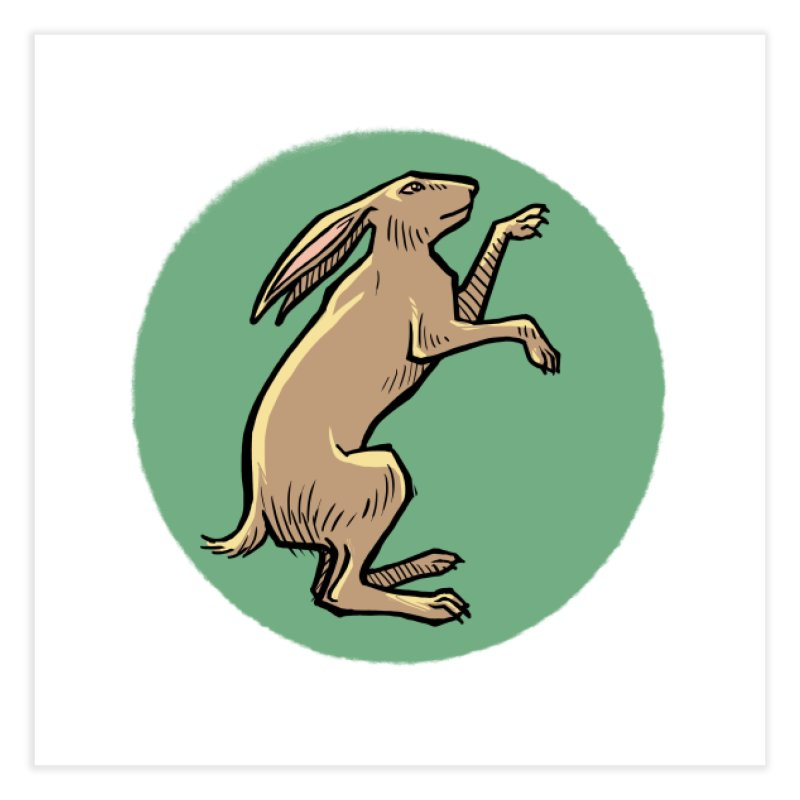 the Hare Home Fine Art Print by Supersticery Shop