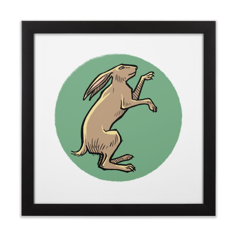the Hare Home Framed Fine Art Print by Supersticery Shop