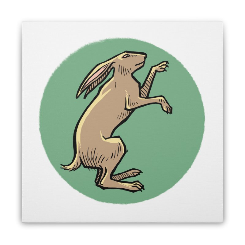 the Hare Home Stretched Canvas by Supersticery Shop