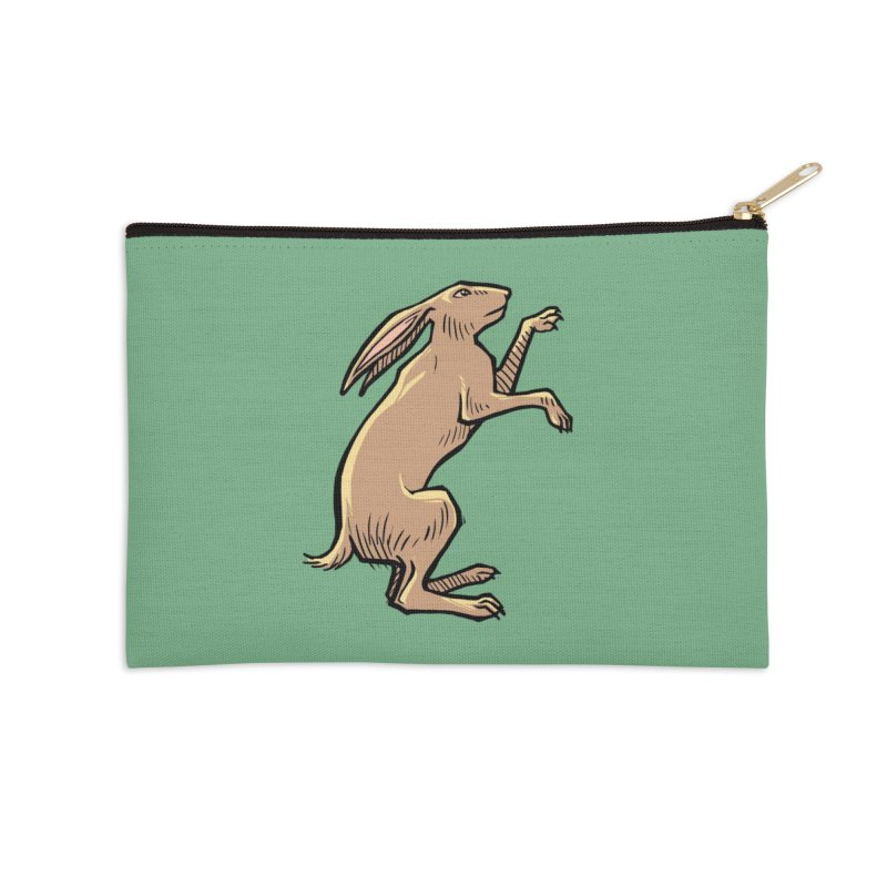 the Hare in Zip Pouch by Supersticery Shop