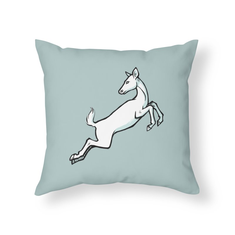 the Hind Home Throw Pillow by Supersticery Shop