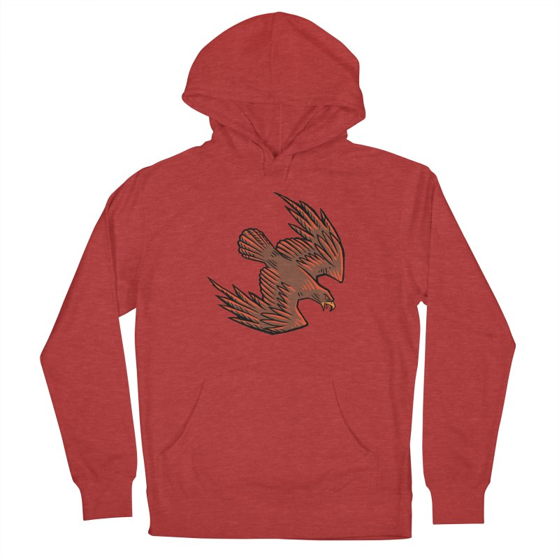 the Hawk Men's French Terry Pullover Hoody by Supersticery Shop