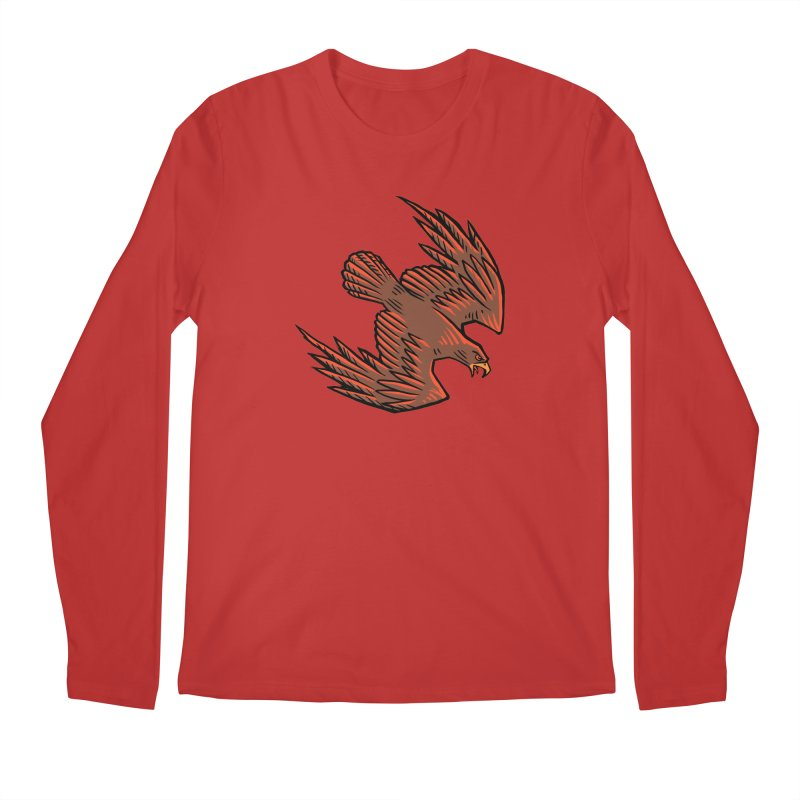 the Hawk Men's Regular Longsleeve T-Shirt by Supersticery Shop