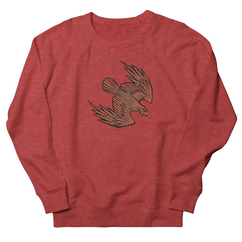 the Hawk Women's French Terry Sweatshirt by Supersticery Shop