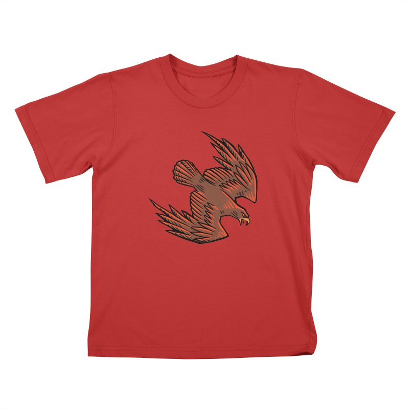 the Hawk Kids T-Shirt by Supersticery Shop