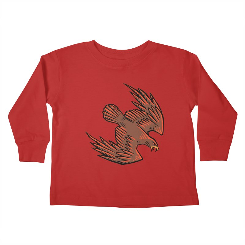 the Hawk Kids Toddler Longsleeve T-Shirt by Supersticery Shop