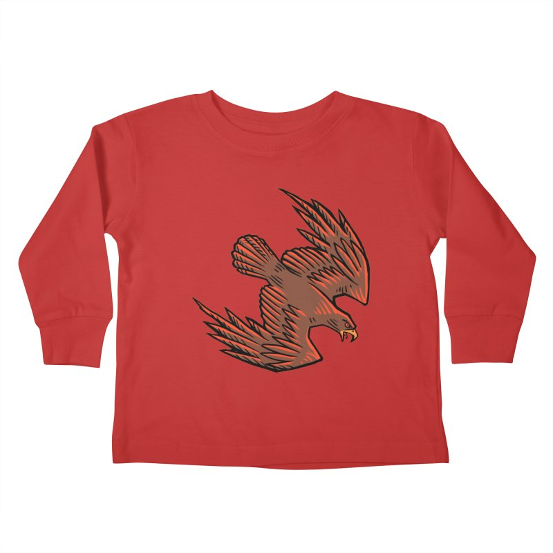 the Hawk Kids Toddler Longsleeve T-Shirt by Supersticery Shop